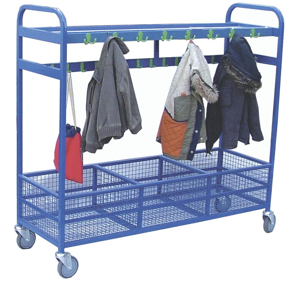 64 Hook Mesh Cloakroom Trolley Welsh Educational Supplies