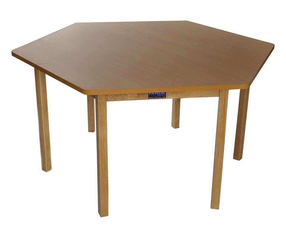 Stretton Hexagonal Table Natural Wooden Furniture
