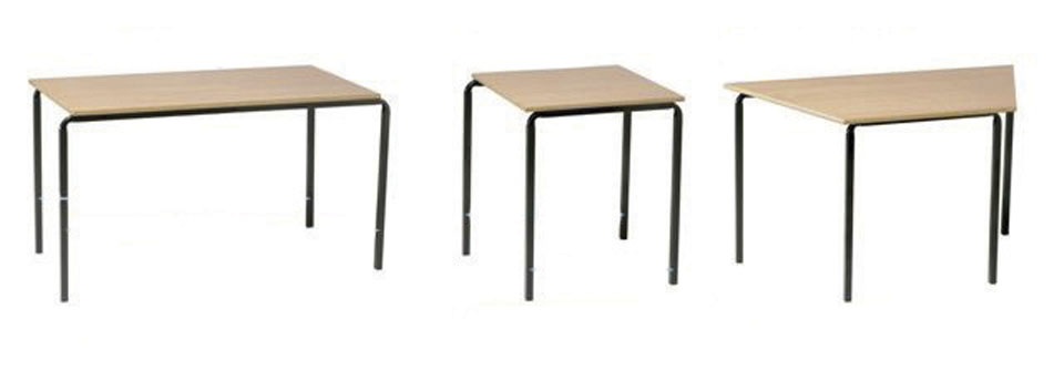 Economy Stacking Classroom Table Rectangular Welsh