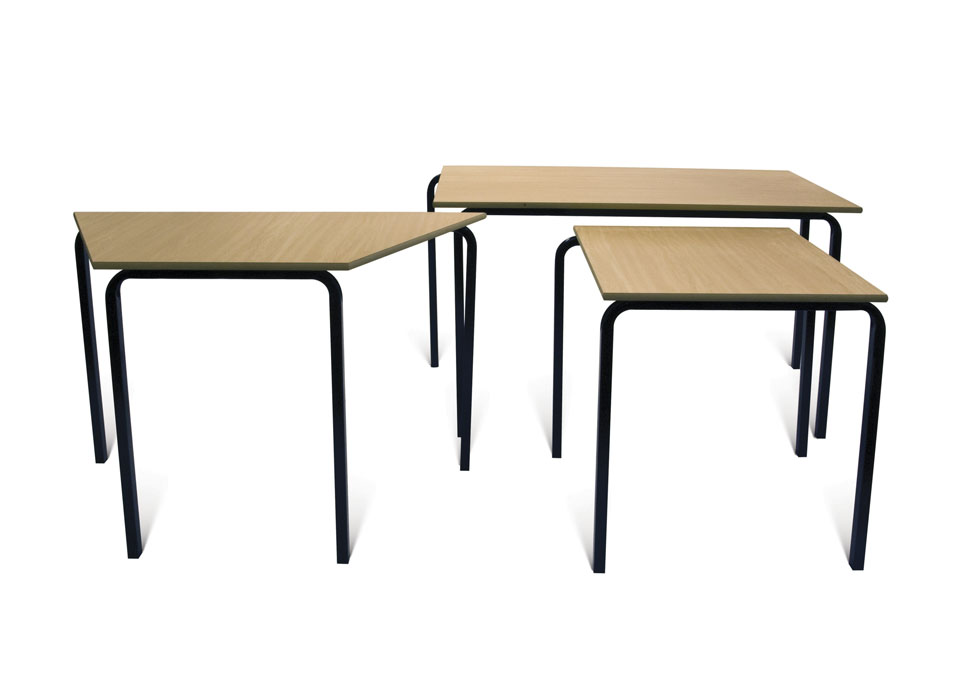 Economy Stacking Classroom Table Trapezoidal Welsh
