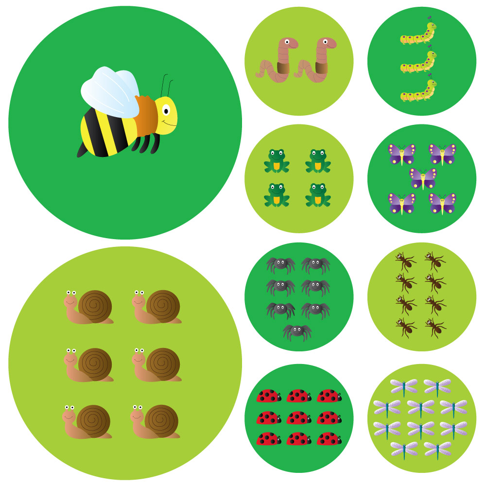 Minibeast Counting Carry Cushions Set Of 10 With Storage