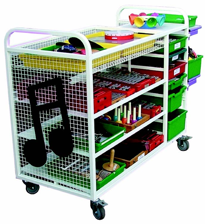 Large Music Storage Trolley Welsh Educational Supplies