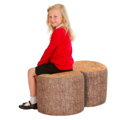 Woodland Tree Large Stump Beanbag Stool 2 Pack Welsh