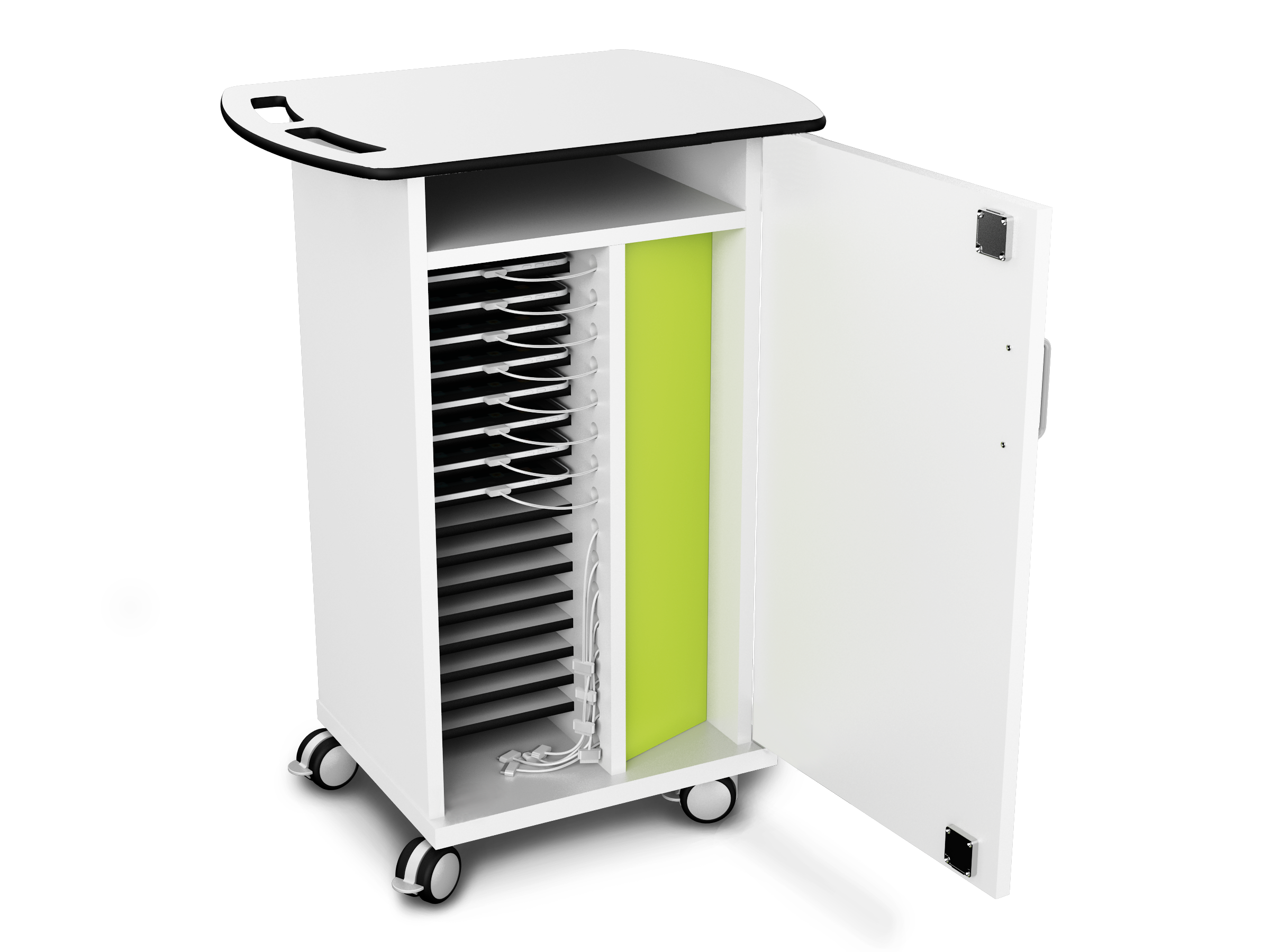 Ipad Syncing Charging And Storage Trolley Perfect For
